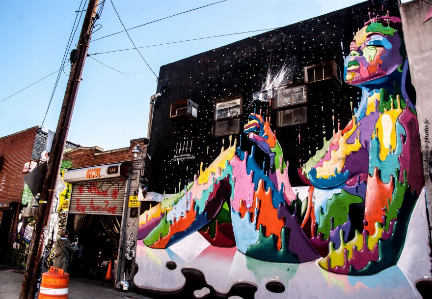Street-art dans le quartier de Bushwick Brooklyn New York City