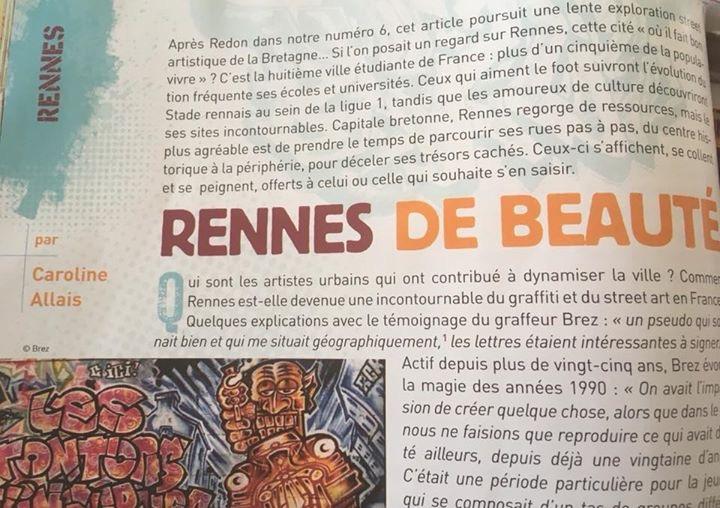 Article le street-art à Rennes