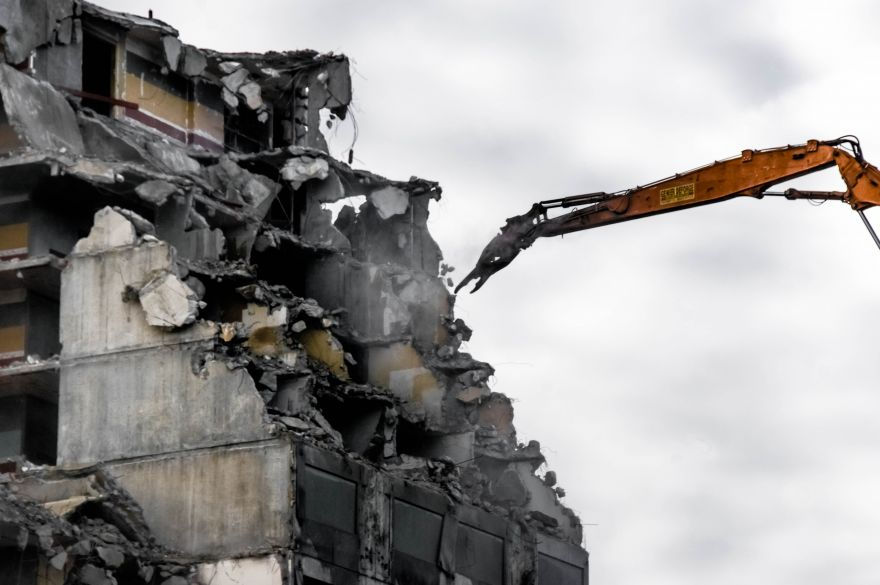 Démolition d'immeuble -Balard